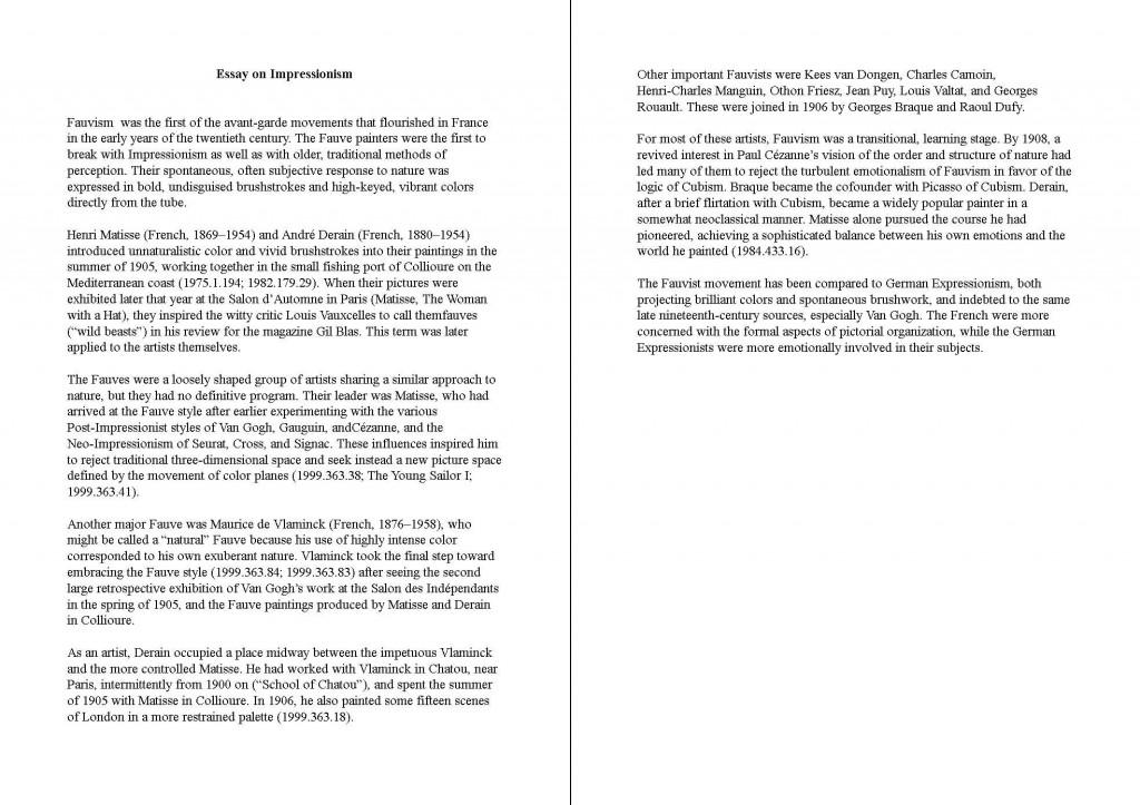 College Essay Paper Format Example   Docoments Ojazlink