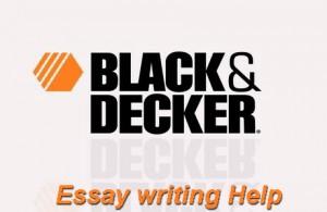 black and decker power tools essay
